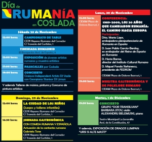 Festivități organizate în Spania de Ziua Națională a României
