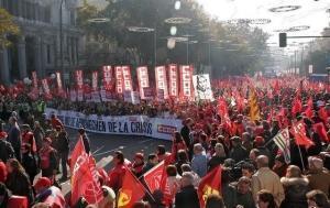 Manifestație sindicală la Madrid