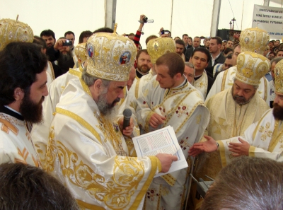 Patriarhul Daniel a pus piatra de temelie a primei Catedrale ortodoxe din Spania
