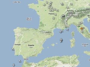 Trafic aerian blocat – 1200 de zboruri suspendate în Spania