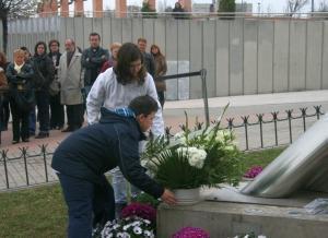 Omagiu adus victimelor atentatelor din 11 martie 2004 la Coslada si Alcala de Henares