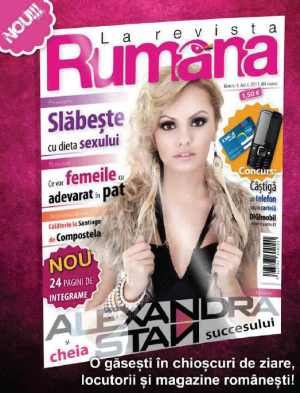 Alexandra Stan ne dezvaluie cheia succesului in revista Rumana