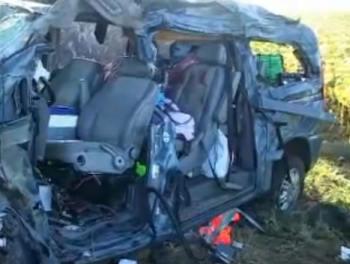 Accident la intoarcerea din Spania (VIDEO): Un mort si patru raniti in urma unui accident pe DN 7