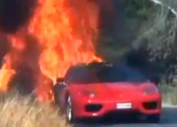 (VIDEO) Asa arde un Ferrari de fotbalist