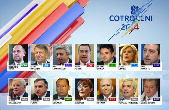 candidati alegeri prezidentiale 2014 romania