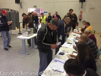 12 mii de romani au votat in Spania in primele ore