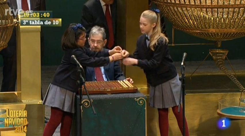 Loteria de Craciun: O elevă româncă citește primele numere câștigătoare