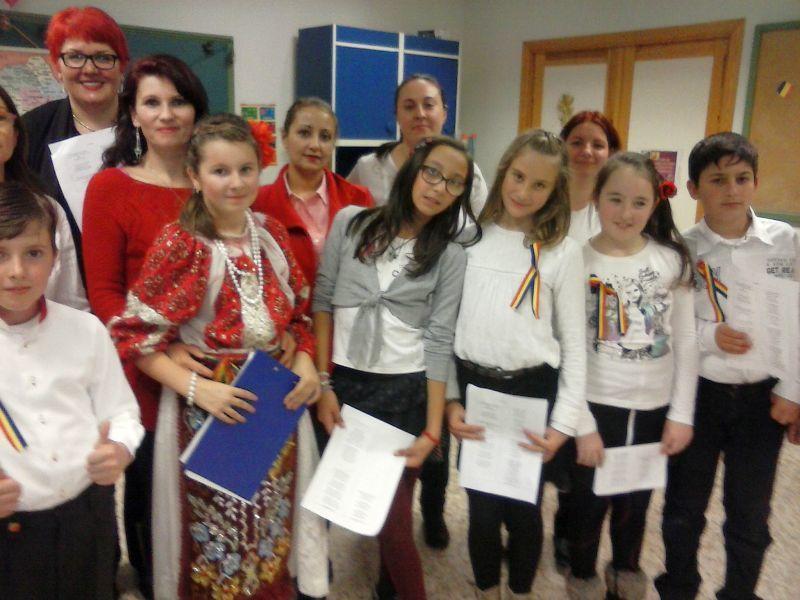 Colinde românești la o școală din Alcalá de Henares (Madrid)