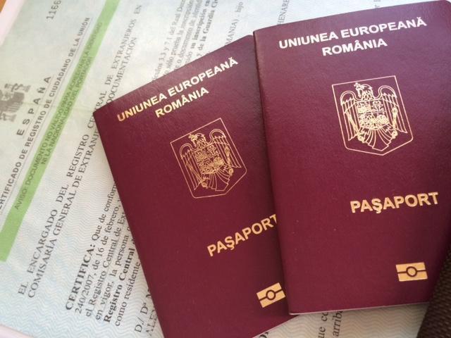 Pasapoarte romanesti si NIE spaniol