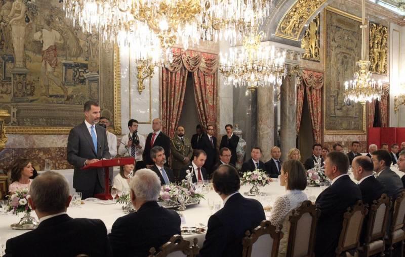 Primarul român Aurel Truță, invitat la masă de regii Spaniei