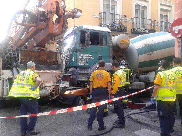 Român strivit în centrul Madridului de o betonieră fără frâne