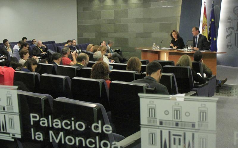 conferinta de presa guvernul spaniei 1