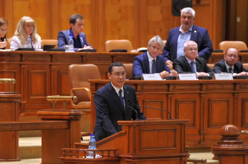 victor ponta premier in parlament