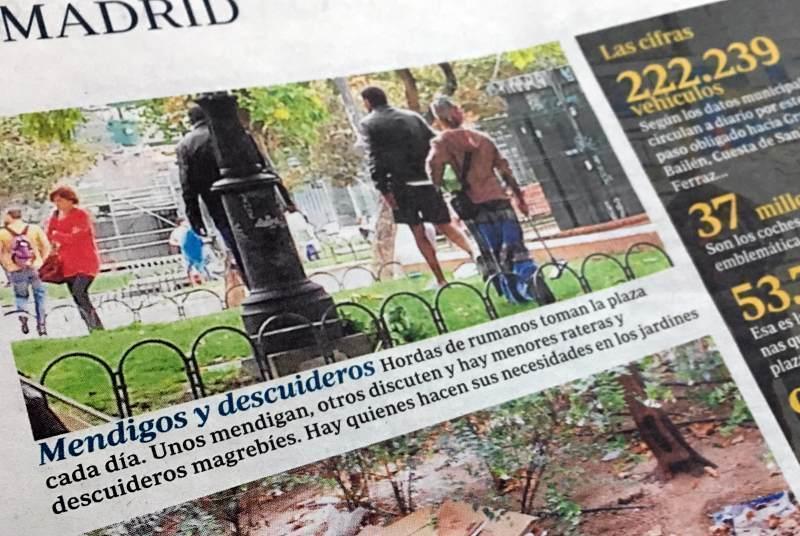 Mizeria din Plaza de España pusă pe seama românilor