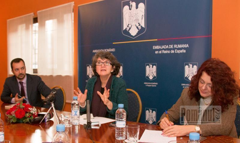 ambasada conferinta de presa cu sandra pralong madrid