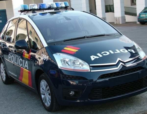 politia spaniola masina