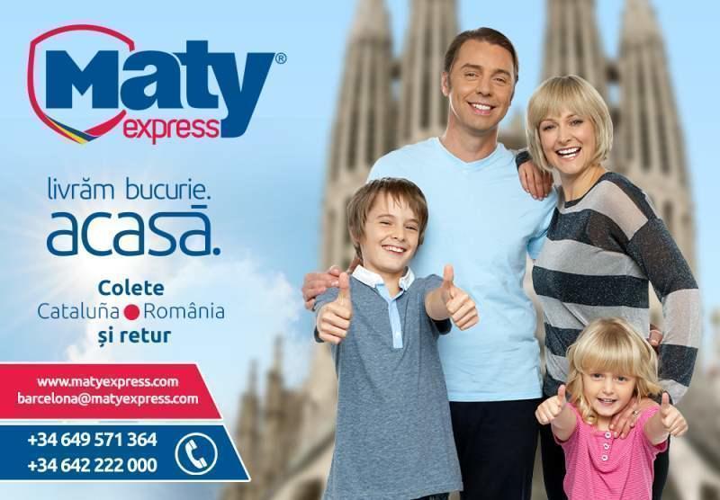 Transport de pachete pentru românii din Catalunya cu Maty Express
