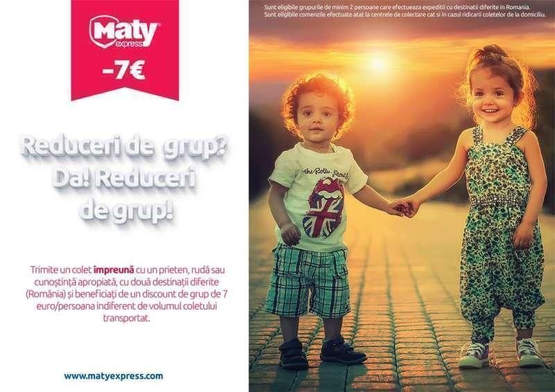Reduceri de grup la trimiteri de pachete cu Maty Express