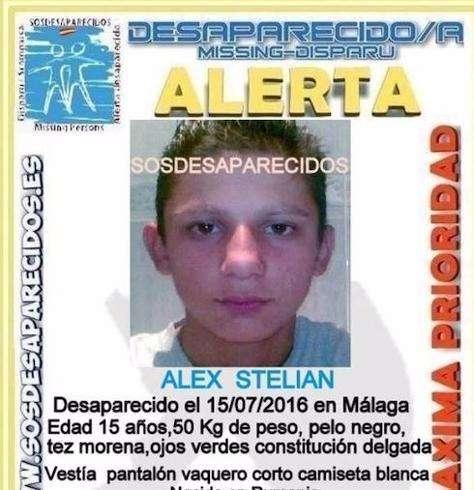 Copil român dispărut în Málaga