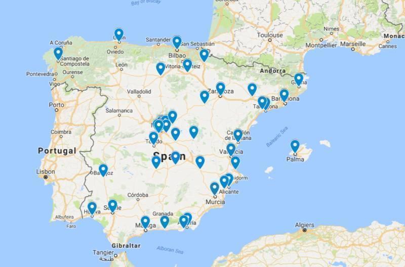 Secții de votare în Spania pentru alegerile parlamentare din 11 decembrie 2016