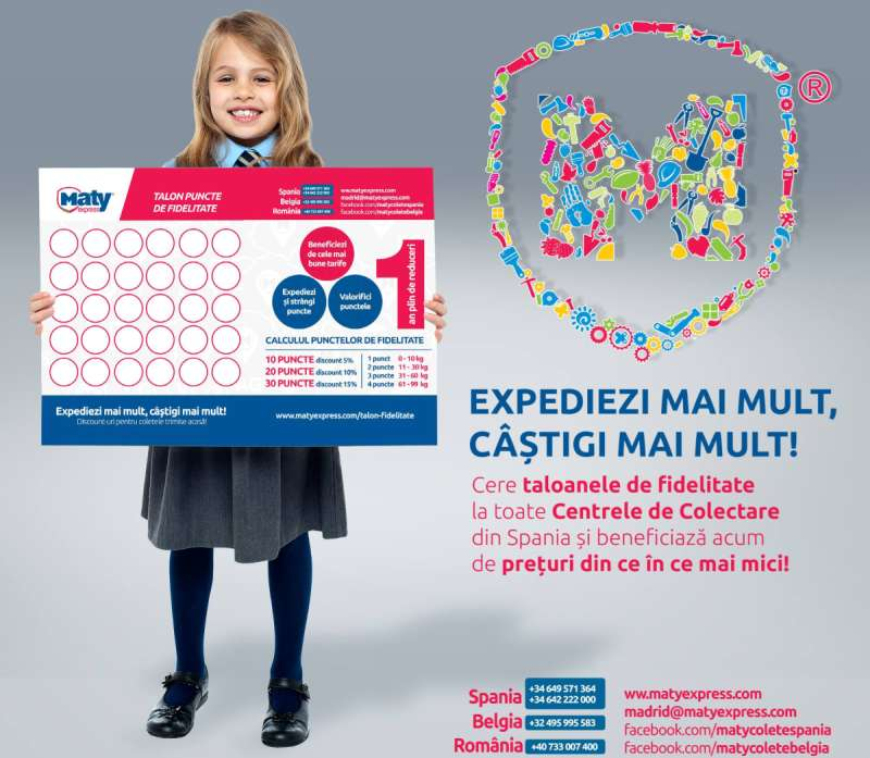 1 an de reduceri pentru clienții fideli de la Maty Express