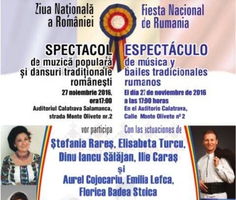 Spectacol folcloric românesc la Salamanca