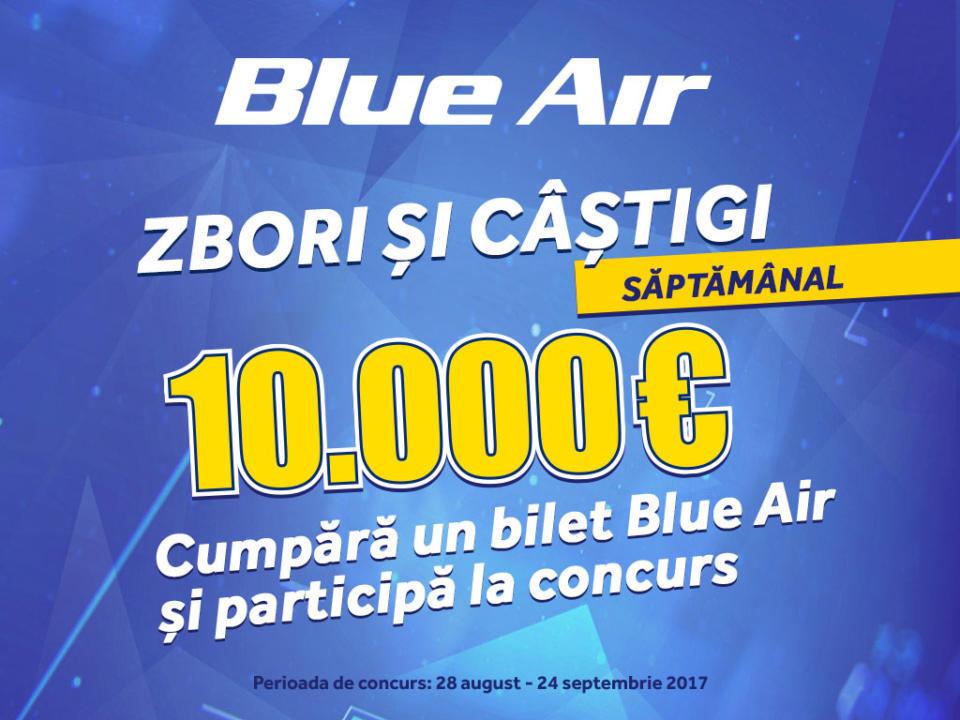 Cum poți să câștigi 10.000 euro de la Blue Air
