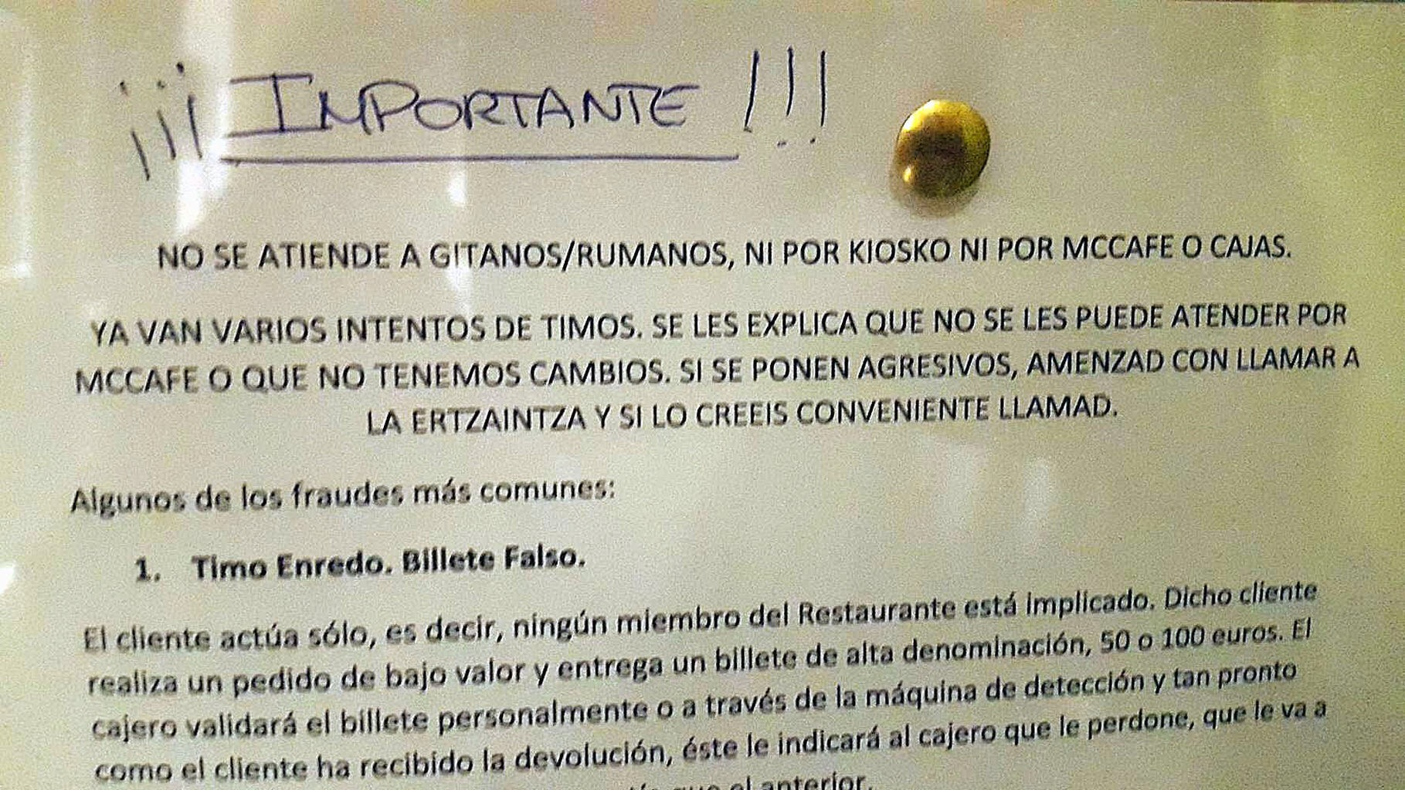 """Nu serviți nici țigani, nici români"" – directiva unui fast food spaniol"
