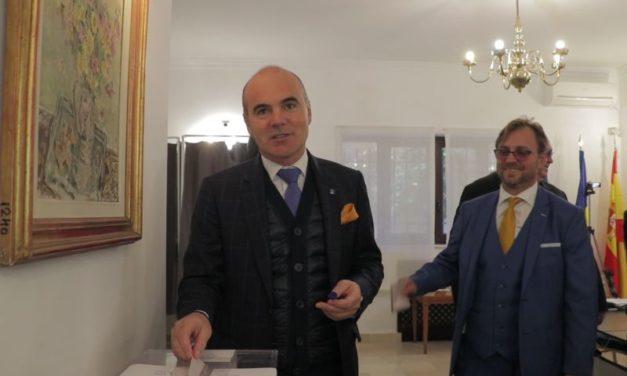 """Rareș Bogdan a votat la Madrid: """"Nimeni nu mai poate ignora diaspora românească"""""""